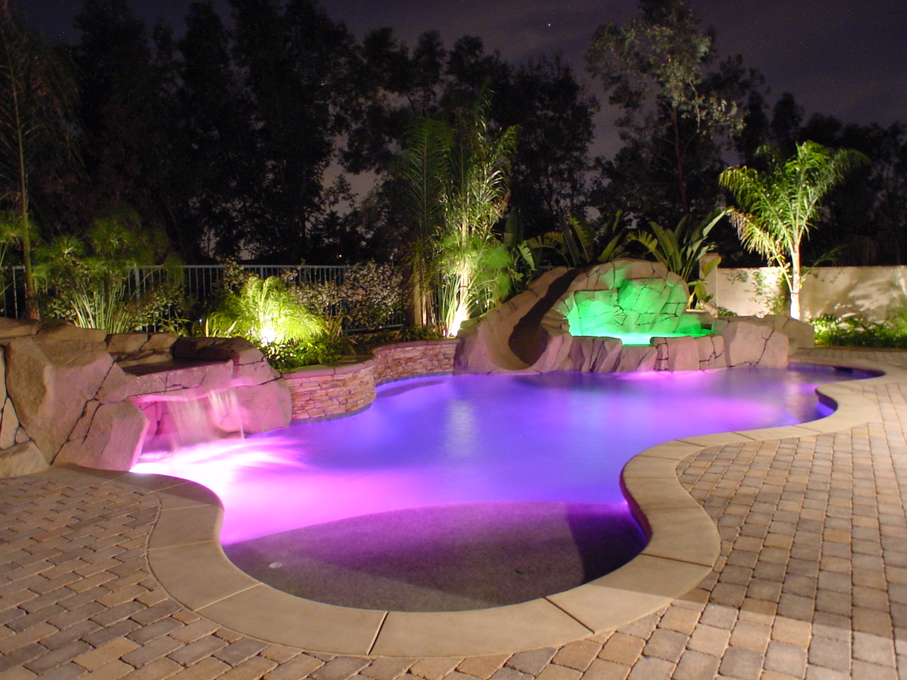 Custom pool designs southern california waterfalls for Pool designs images