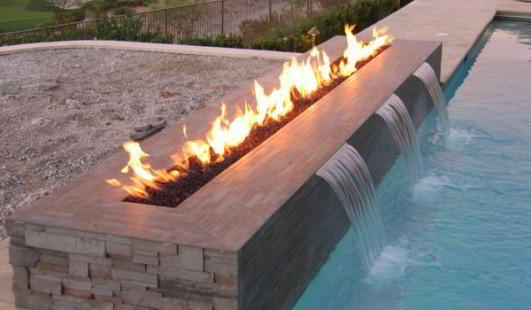 Fire Wall | Fire Pits for Pool Decks San Clemente