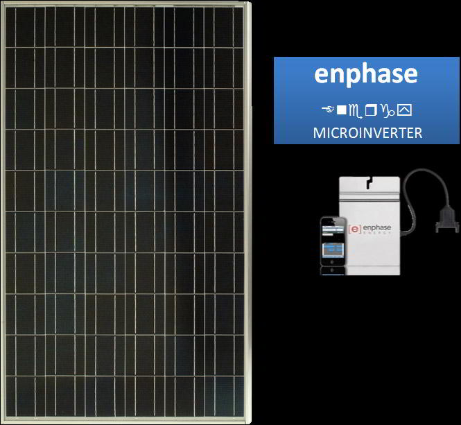 enphase Microinverter for Sharp 240 Watt Multi-Purpose Module ND-240QCJ