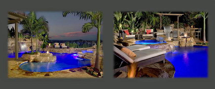 Pool equipment is eco-select by pentair, clear 03® Ozone system, by paramount. Utilizing and blending available materials to maintain the natural feel of a rugged mountain hideaway, was our challenge on this beautiful back yard.